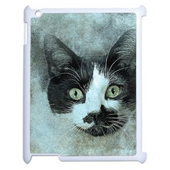 Cat Pet Art Abstract Vintage Apple Ipad 2 Case (white) by Celenk