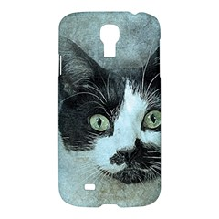 Cat Pet Art Abstract Vintage Samsung Galaxy S4 I9500/i9505 Hardshell Case by Celenk