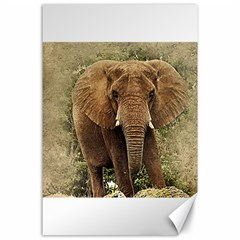 Elephant Animal Art Abstract Canvas 24  X 36  by Celenk
