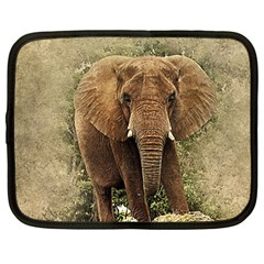 Elephant Animal Art Abstract Netbook Case (large)