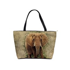 Elephant Animal Art Abstract Shoulder Handbags by Celenk