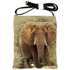 Elephant Animal Art Abstract Shoulder Sling Bags by Celenk
