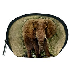 Elephant Animal Art Abstract Accessory Pouches (medium)  by Celenk