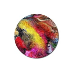 Background Art Abstract Watercolor Magnet 3  (round)
