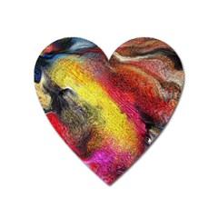 Background Art Abstract Watercolor Heart Magnet by Celenk