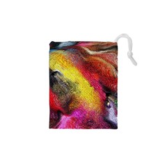 Background Art Abstract Watercolor Drawstring Pouches (xs)  by Celenk