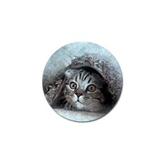 Cat Pet Art Abstract Vintage Golf Ball Marker (4 Pack)