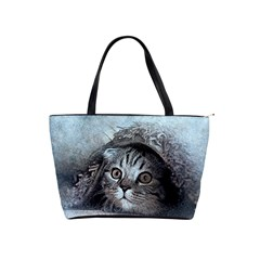 Cat Pet Art Abstract Vintage Shoulder Handbags by Celenk