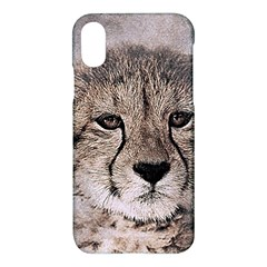 Leopard Art Abstract Vintage Baby Apple Iphone X Hardshell Case by Celenk