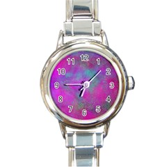 Background Texture Structure Round Italian Charm Watch by Celenk