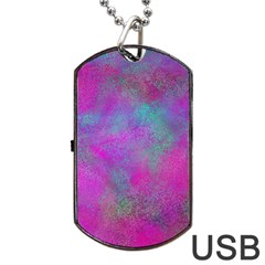 Background Texture Structure Dog Tag Usb Flash (one Side) by Celenk