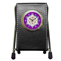 Eyes Looking For The Finest In Life As Calm Love Pen Holder Desk Clocks by pepitasart