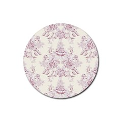 French Chic Rubber Coaster (round)  by 8fugoso