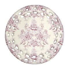 French Chic Round Filigree Ornament (two Sides) by 8fugoso