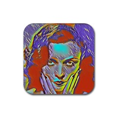 Femm Fatale Rubber Square Coaster (4 Pack)  by 8fugoso