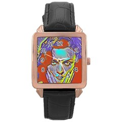 Femm Fatale Rose Gold Leather Watch  by 8fugoso