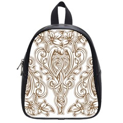 Beautiful Gold Floral Pattern School Bag (small) by 8fugoso