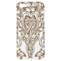 Beautiful Gold Floral Pattern Apple Iphone 5 Hardshell Case by 8fugoso