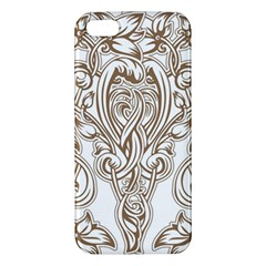 Beautiful Gold Floral Pattern Apple Iphone 5 Premium Hardshell Case by 8fugoso