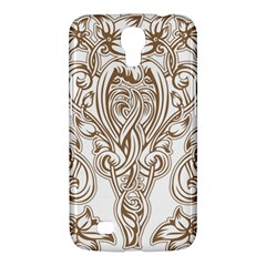 Beautiful Gold Floral Pattern Samsung Galaxy Mega 6 3  I9200 Hardshell Case by 8fugoso