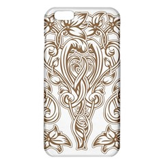 Beautiful Gold Floral Pattern Iphone 6 Plus/6s Plus Tpu Case by 8fugoso