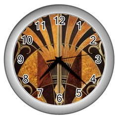 Art Deco Gold Wall Clocks (silver)  by 8fugoso