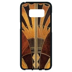 Art Deco Gold Samsung Galaxy S8 Black Seamless Case by 8fugoso
