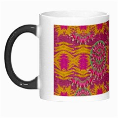 Fern Landscape In Harmony With Bleeding Hearts Fantasy Art Morph Mugs by pepitasart