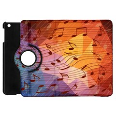 Music Notes Apple Ipad Mini Flip 360 Case by linceazul