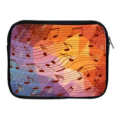 Music Notes Apple Ipad 2/3/4 Zipper Cases by linceazul