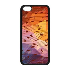 Music Notes Apple Iphone 5c Seamless Case (black) by linceazul