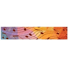 Music Notes Flano Scarf (large)  by linceazul