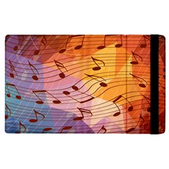 Music Notes Apple Ipad Pro 12 9   Flip Case by linceazul