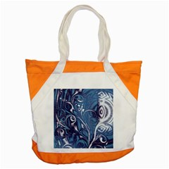 Mystic Blue Flower Accent Tote Bag by Cveti