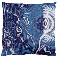 Mystic Blue Flower Standard Flano Cushion Case (one Side) by Cveti