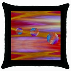 Space World Pattern Throw Pillow Case (black) by Cveti
