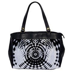 Ornaments Pattern Black White Office Handbags by Cveti