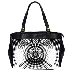 Ornaments Pattern Black White Office Handbags (2 Sides)  by Cveti