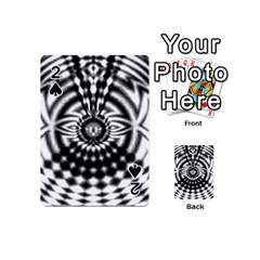 Ornaments Pattern Black White Playing Cards 54 (mini)  by Cveti