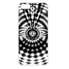 Ornaments Pattern Black White Apple Iphone 5 Seamless Case (white) by Cveti