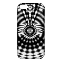 Ornaments Pattern Black White Apple Iphone 5c Hardshell Case by Cveti