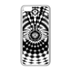 Ornaments Pattern Black White Apple Iphone 5c Seamless Case (white) by Cveti