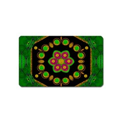 Magic Of Life A Orchid Mandala So Bright Magnet (name Card) by pepitasart