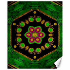 Magic Of Life A Orchid Mandala So Bright Canvas 16  X 20   by pepitasart