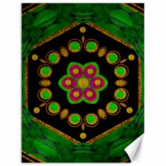 Magic Of Life A Orchid Mandala So Bright Canvas 18  X 24   by pepitasart