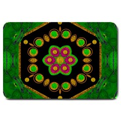 Magic Of Life A Orchid Mandala So Bright Large Doormat  by pepitasart
