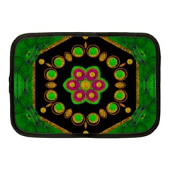 Magic Of Life A Orchid Mandala So Bright Netbook Case (medium)  by pepitasart