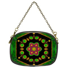 Magic Of Life A Orchid Mandala So Bright Chain Purses (two Sides)  by pepitasart