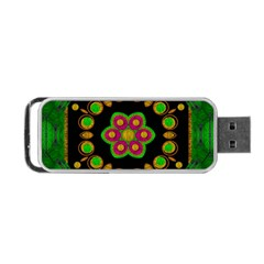 Magic Of Life A Orchid Mandala So Bright Portable Usb Flash (two Sides) by pepitasart