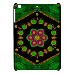Magic Of Life A Orchid Mandala So Bright Apple Ipad Mini Hardshell Case by pepitasart